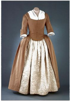 Dress  1760-1780  United States  DeWitt Wallace Museum