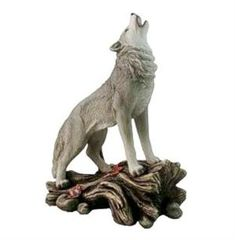 New beautiful howling Wolf figurine for 2016.