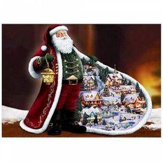 ba61f5249f 5D Christmas Xmas Diamond Embroidery Painting Cross Stitch Craft Home Decor
