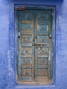 Traditional Blue Architecture, Jodhpur, Rajasthan, India Photographic Print