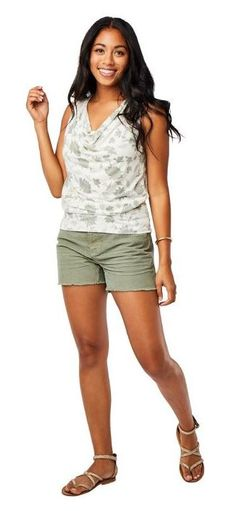 Sonoma Goods For Life The Everyday Lounge Short Super Comfy Shorts Palm Green