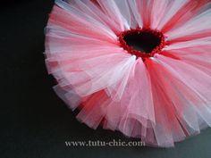 Valentines day tutu: Infant tutu, baby tutu, toddler tutu, childrens tutu, kids tutu, newborn tutu, pink tutu, red tutu, white tutu