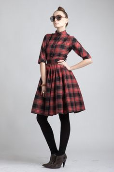 custom made shirtwaist dress...totally channeling betty draper!