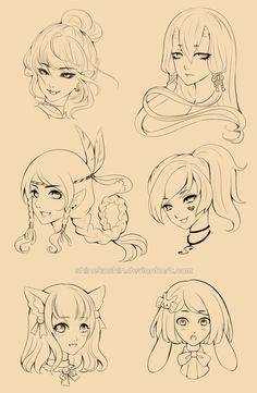 Characters sketches set 01 by shinekoshin