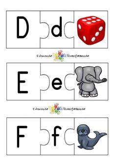 Blog Educação e Transformação: 👍 Alfabeto: quebra-cabeça Kids, 1, Blog, Literacy Activities, Learning Numbers, Alphabet Games, Cursive Alphabet, Young Children, Boys