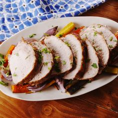 You may not normally think to turn to your slow cooker for a large, lean piece of meat, but this dish will change your mind. This pork loin stays super tender and juicy as it cooks, and the sweet and tangy glaze on the outside is downright addictive. Pork Roast Recipes, Pork Tenderloin Recipes, Slow Cooker Recipes, Cooking Recipes, Beef Tenderloin, Roast Brisket, Cooking Tips, Slow Cooker Pork Loin, Pork Roast Crockpot