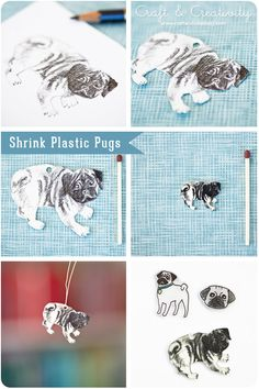 Shrink plastic pugs - by Craft & Creativity