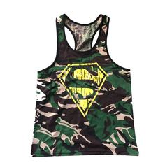 Gym clothing Singlets Camouflage Tank Tops Shirt Bodybuilding Equipment Fitness Men's