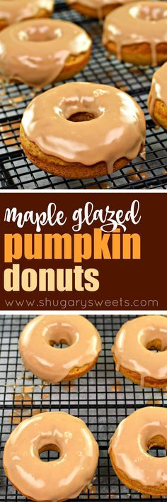 Soft pumpkin donuts topped with a maple glaze are exactly how I want to celebrate a fall morning. Bake a batch of Maple Glazed Pumpkin Donuts today!