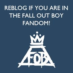 Youngbloods, Overcast Kids, Black Clouds and Underdogs, Suitehearts, Car-Crash Hearts, the Poisoned Youth... We go by many names but we're all here for the same band, the same music, and we share the same love. Thank you, Fall Out Boy, for bringing us all together.<<This is perfect. When you reblog, do NOT change a thing about this beautifully written speech for Fall Out Boy. It explains why we are all here today. And I love it.