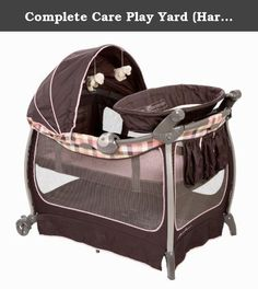 Complete Care Play Yard (Harmony). Complete Care Play Yard (Harmony)New-Flip Away changer for convenienceQuick and easy set upTwo Speed VibrationComfortable bassinet for babyfs nap time with easy snap-on bars and breathable meshSmart Carry bag exposes wheels for portability and storage pocket fits all play yard pieces for convenient travelAssembly light assembly.