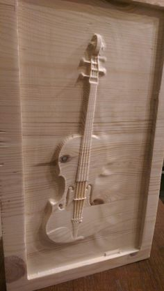 First try , design and milling on wood . Violin