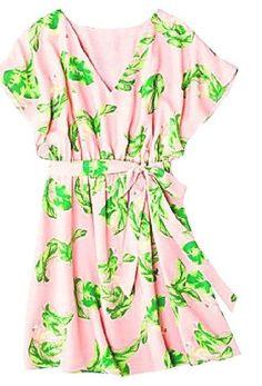 Shine in summer fashions   flamingo print dress