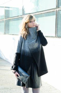 Outfit grigio degradè Cardigan Rosa-spina Torino Eleonora Gavino