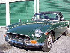 1970 MGB - (Back in the day) the most fun car I ever owned! My looked just like this one ~ British Racing Green!!!!!