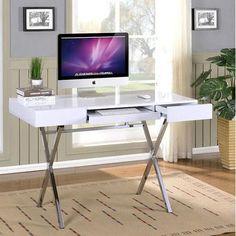 inroom designs computer desk with 2 drawers walmartcom