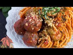 Vegan Lentil Meatballs | Spaghetti and Walnut Parmesan + Video