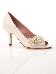 If you are looking for comfort on your wedding day, why not try a shoe with just a kitten heel?