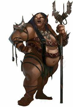 Female Ogre - Pathfinder PFRPG DND D&D d20 fantasy