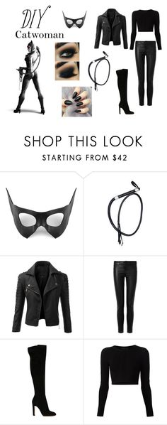 """DIY Halloween Costume"" by princ355 ❤ liked on Polyvore featuring Masquerade, Doublju, J Brand, Gianvito Rossi, Cushnie Et Ochs, catwoman, diycostume and GothamCitySiren"