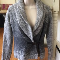 Love this jacket!!   Ann Taylor belted jacket, very cute.  Shades of gray, tweed look.  Great for an office look, professional.  Warm. Ann Taylor Jackets & Coats Blazers