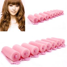 new Top sell 6Pcs Fashion Magic Sponge Foam Hair Curlers Curling Styling Rollers Twist Tool 5VTQ 7GW9