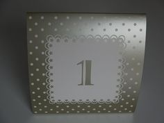 12 Freestanding Card Table Numbers Gold Wedding Reception Table Number (1-12)