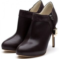 Rupert Sanderson Grey Leather Ankle Boot