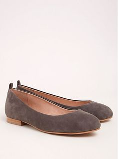 34fa8f8f1b1 Collection Genuine Suede Almond Toe Flats (Wide Width). Torrid