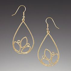 Gold-plated Orchard Blossom Earrings by Lenox