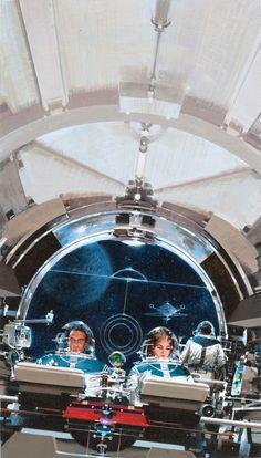 JOHN CONRAD BERKEY - Space Merchants John Berkey, Sci Fi Fantasy, Science Art, Science Fiction Art, Scott Hansen, American, Spaceship Interior, 70s Sci Fi Art, Retro Futuristic