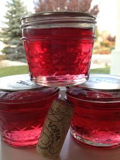 Wine Jelly. Photo by RenoFoodie Absolutely one of the easiest jellies to make and it's a terrific little gift for the neighbors.  Champagne can also be used....great on your toast or muffin <3