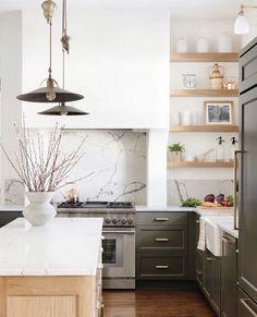 Kitchen Post, Home Decor Kitchen, New Kitchen, Home Kitchens, Kitchen Ideas, Natural Kitchen, Natural Wood, Interior Desing, Interior Design Kitchen