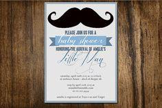 Little Man Baby Shower Digital Invitation on Etsy 15$ #invitation #babyshower