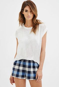 Plaid PJ Shorts | Forever 21 - 2000157504