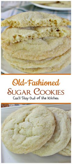Old-Fashioned Sugar Cookies | Can't Stay Out of the Kitchen | these amazing #cookies are rolled in sugar and are so quick and easy to make. #dessert #sugarcookies
