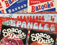Fonts on confectionery 1970s style via @Type Tasting