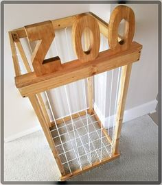 This is our newest item! A Stuffed Animal Zoo to keep all those stuffed animals in one place. If your kids are anything like mine then you probably have an insane amount of stuffed animals. This measures approximately 2ft sq, and 3 ft high. Each piece of rope is tightly secured through screw eyes. ************************************** PLEASE CHECK THE VARIATIONS WHEN YOU ORDER!!! LETTERS * This option is for the zoo WITHOUT the block letters at the top. If you choose this option, please…