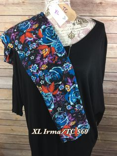 Sold - XL Black Irma & Tall and curvy leggings from LulaRoe. Outfit $60 Available at https://shoptheroe.com/party/1396919205p/ Once its claimed, it's gone. #womansclothing #lularoe #fashion