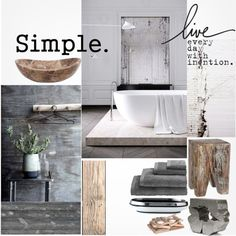 """Rustic Bathroom"" by szaboesz on Polyvore"
