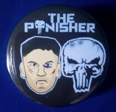 The Punisher. Custom 38mm Pin Badge. #ThePunisher #FrankCastle #JonBernthal #TVShow