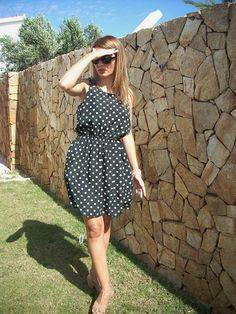 abito+nero+pois+misto+seta+arricciatura+in+vita+di+MelinaECris+su+DaWanda.com Wrap Dress, My Style, Vintage, Dresses, Fashion, Vestidos, Moda, La Mode, Wrap Dresses