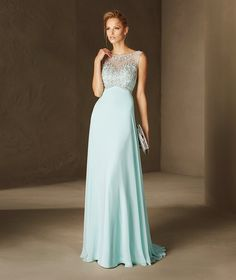 Barbara - Cocktail dress with plunging V on the back in tulle, gauze and…