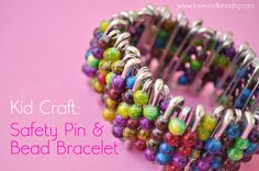 Sugar Bee Crafts: Safety Pin & Bead Bracelet - Kid Craft Contributor