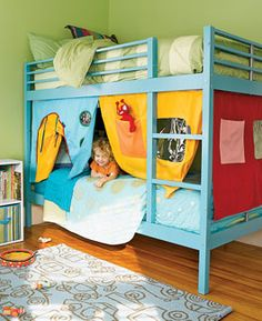 bunkbed curtains! -- bunk beds for kids!