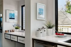 Two separate sinks in the kitchen? Yes! Coastal New Englander by Patty Kennedy Interiors