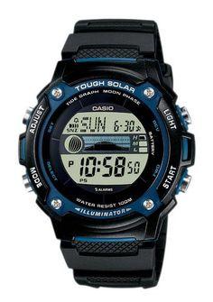 Casio Collection, Armbanduhr, ´´W-S210H-1AVEF´´. Casio Collection-Uhren mit bewährter Casio Uhren-Technik! Casio lässt die Digitaluhren der 71er Jahre wieder aufleben. In coolem Edelstahl wie auch im schwarzen Resinoutfit ist für alle Altersgruppen, Design-, Mode- und Preisbewusste etwas dabei. Quartzwerk Digitalanzeige Stoppfunktion 1/100 Sek Datum Monat Wochentag 12/24-Std.-Anzeige Countdown/Timer Beleuchtung Tough Solar Ebbe-Flut-Indikator Mondphase Ladekontrollanzeige Weltzeit für 48…