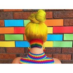 I am now rocking a rainbow undercut thanks to the babes at ! by tillybaker Yellow Hair Color, Vivid Hair Color, Hair Colours, Crazy Colour, Shaved Hair, Crazy Hair, Undercut, How To Make Hair, Great Hair
