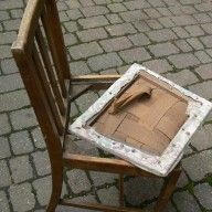 How to recover an upholstered dining chair seat pad | Make it and Mend it - upcycling, craft with a twist, cookery, gardening and more
