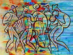 "Saatchi Art Artist Leon Zernitsky; Painting, ""KLEZMER BAND"" #art"